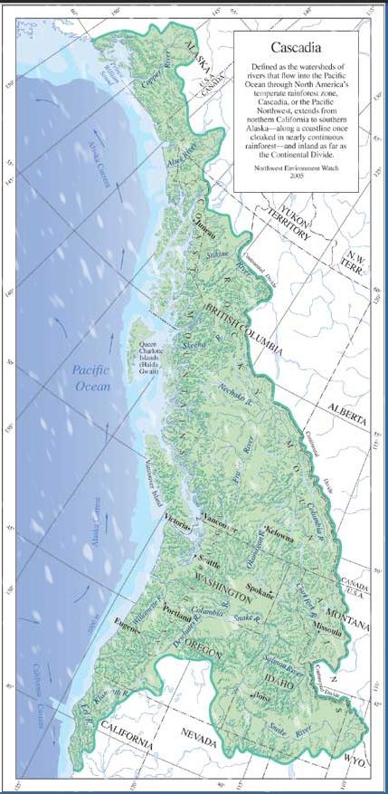 Cascadia kaart